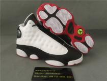 Authentic Air jordan13 Retro White True Red-Black