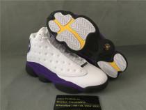 Authentic Air Jordan 13 Retro Laker White Court Purple