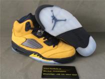 Authentic Air Jordan 5 Yellow
