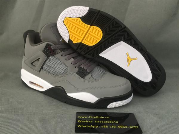 Authentic Air Jordan 4s Grey