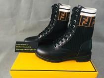 Authentic Fendl boots Black /White