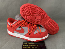 Authentic OFF WHITE x Nike Dunk Low Red