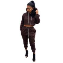 Sudadera con capucha y pantalones de color sólido 22830-1
