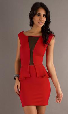 Сексуальное платье Peplum 13781-3