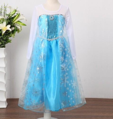 Vestido Elsa congelado al por mayor para niños y niñas 14748
