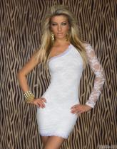 Vestido de talla grande Descuento en compras Encaje Un hombro 11933-1