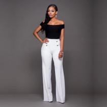 Pantalón largo de cintura alta 23382-2