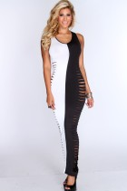 One Pieces Cutout Sides Sexy Maxi Dress 14772-2