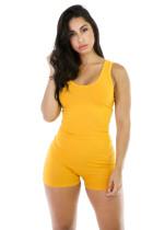Monos de mujer sin mangas amarillo puro 20655-2
