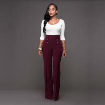 Pantalón largo de cintura alta 23382-3