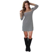 Camisa Rayas Blanca y Negra Vestido 23900