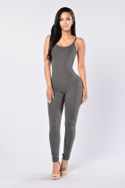 Stilvolle graue Panzer Jumpsuits 20653-5