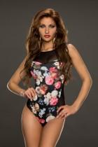 Body de flores de corte alto sexy 23792-2
