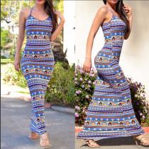 Bohemian Strapy Maxi Dress 20300