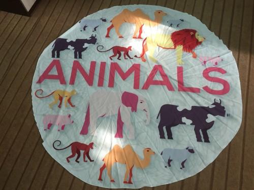 Animal Print Round Beach Towel 21434-6
