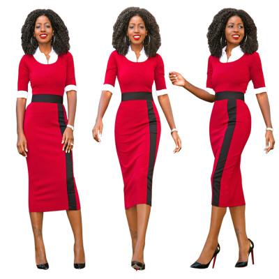 Платье цвета Midi с O-Neckline 22893-2