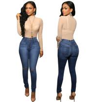 Jeans rotos mediados de cintura sexy 23433
