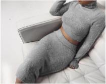 Vestido de suéter de dos piezas sexy 23841-2