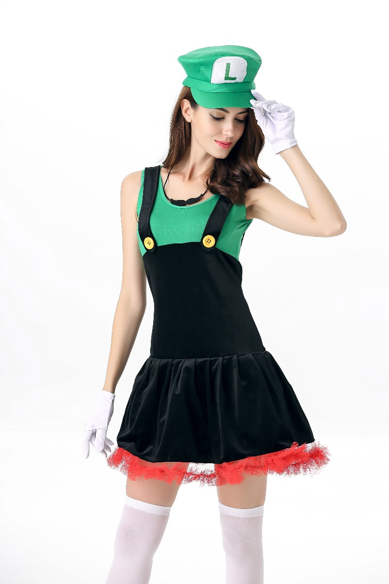 Loading zoom  sc 1 st  Global Lover & US$ 10.35 - Cosplay Party Super Mary Sexy Costumes 21906-1 - www ...