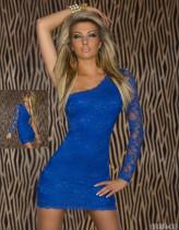 Vestido de talla grande Descuento en compras Encaje Un hombro 11933-7