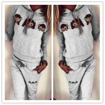 Niedlicher Hooded Print Pullover Hoodie und elastische Taillenhose Twinset 18764-4