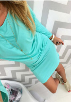 Vestido casual sencillo con mangas 21960-4