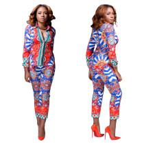 Blazer Africano de Manga Larga y Pantalones 22555