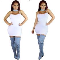 Vestito sexy bianco da serbatoio 22841-4