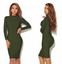 Sexy Mesh Patchwork Pure Schlankes Kleid 22977-3