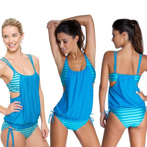 Leisure Gray Plus Size Swimwear 20664