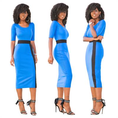 Платье цвета Midi с O-Neckline 22893-1