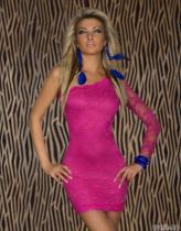 Vestido de talla grande Descuento en compras Encaje Un hombro 11933-2