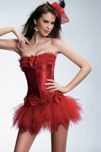 Girls Sexy Corset With Tutu Skirt 10632-2