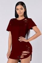 Camisas atractivas de corte alto-bajo 23112-5