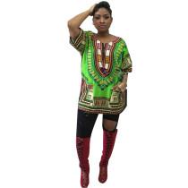 Promoción de ventas de poliéster Dashiki camisa con bolsillos 21422-7