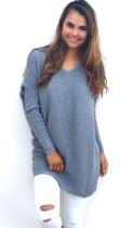 Blaue Pullover mit V-Ausschnitt 22645-2