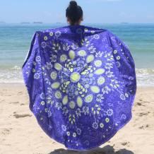 Hawaii Blue Printed Beachhanddoek 21588-6