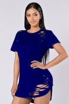 Camisas atractivas de corte alto-bajo 23112-2