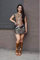 Vestido de fiesta sexy con estampado animal 21196
