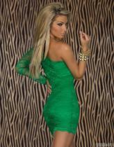 Vestido de talla grande Descuento en compras Encaje Un hombro 11933-4