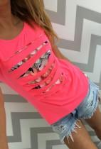 Camisetas con estilo de las niñas huecas 21305-2
