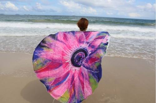Sunflower Round Beach Towel 21337
