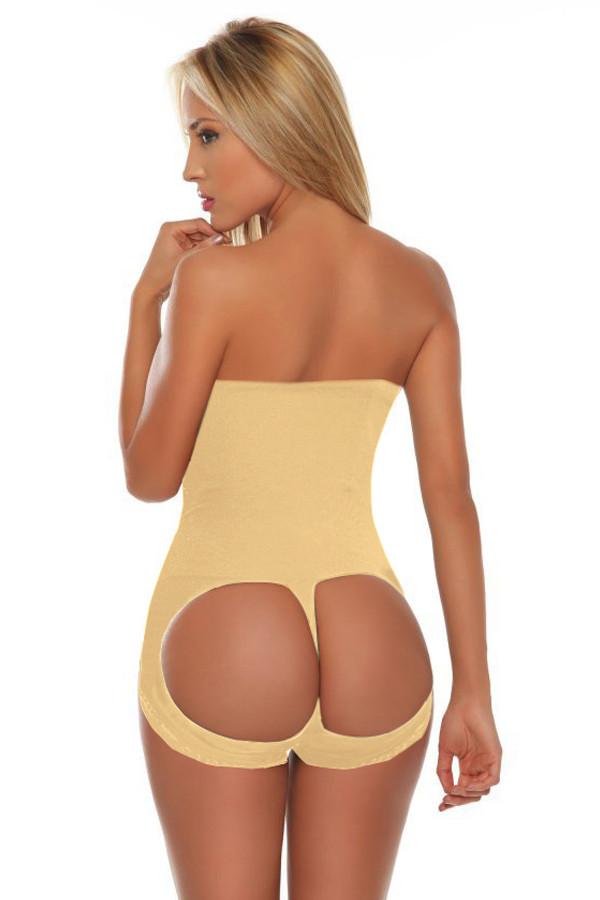 Frauen Hohe Taille Seamless Bottom Unterwäsche Hüfte 16341-2