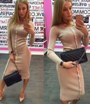 Sırf Çıplak Uzun Kollu Kazaklı Elbise 22722-2