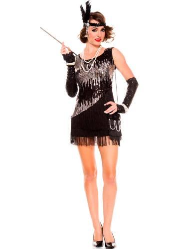 Plus Size Sequin Sparkly Fearless Flapper Kostüm 14601