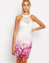 Häkeln Sie weißes und rosa Spitzenkleid 20967-2