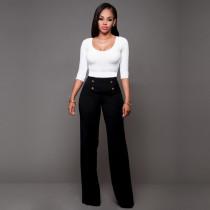 Pantalón largo de cintura alta 23382-1