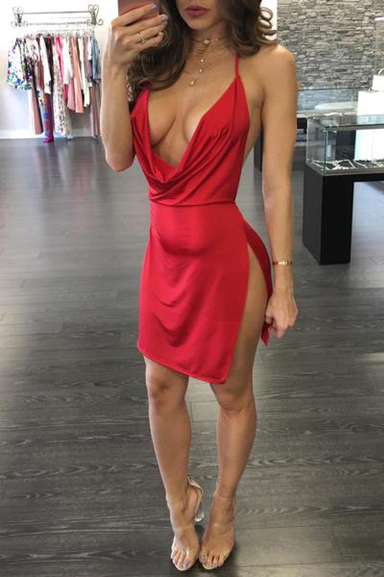 фото девушек в тонком платье