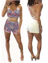 Boho Summer Fashion Backcross 2 Zweiteiler Short Set 24461