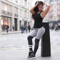 Legging de fitness noir et gris 24666